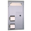Bobrick ClassicSeries™ Partition-Mounted, Seat-Cover Dispenser, Sanitary Napkin Disposal and Toilet Tissue Dispenser - Model B-3571 Bobrick ClassicSeries™ Partition-Mounted, Seat-Cover Dispenser, Sanitary Napkin Disposal and Toilet Tissue Dispenser - Model B-3571