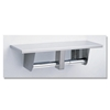 Toilet Tissue Dispenser with Utility Shelf - Model B-2840 Toilet Tissue Dispenser with Utility Shelf - Model B-2840
