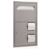 Bobrick ClassicSeries™ Recessed Seat-Cover Dispenser and Toilet Tissue Dispenser - Model B-3474 Bobrick ClassicSeries™ Recessed Seat-Cover Dispenser and Toilet Tissue Dispenser - Model B-3474