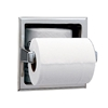 Bobrick Recessed Toilet Tissue Dispenser with Storage for Extra Roll - B-6637 Bobrick Recessed Toilet Tissue Dispenser with Storage for Extra Roll - B-663