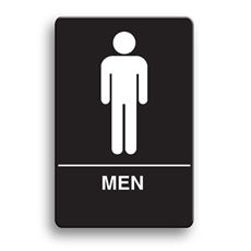ADA Compliant Men's Restroom Sign