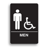 ADA Compliant Mens Accessible Restroom Sign