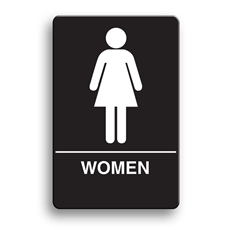ADA Compliant Women's Restroom Sign