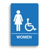ADA Compliant Womens Accessible Restroom Sign