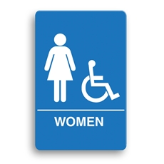 ADA Compliant Women's Accessible Restroom Sign