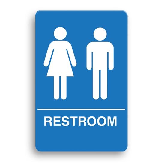 Palmer Ada Compliant Restroom Sign Unisex Restroom Blue